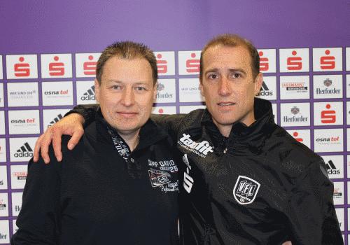 Jörg Rensmann und sein Ex-VFL Osnabrück Coach Joe Enochs - zur aktiven Zeit war Jörg Pate für Joe