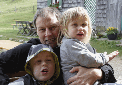Jörg Rensmann und seine Kinder im Sommerurlaub 2017